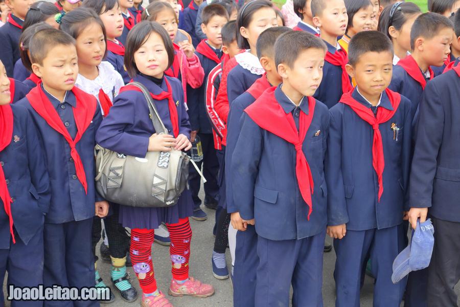 Crianças em Pyongyang
