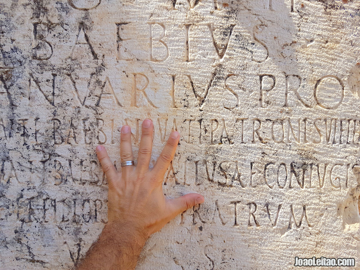 ROMAN INSCRIPTIONS IN BAALBEK
