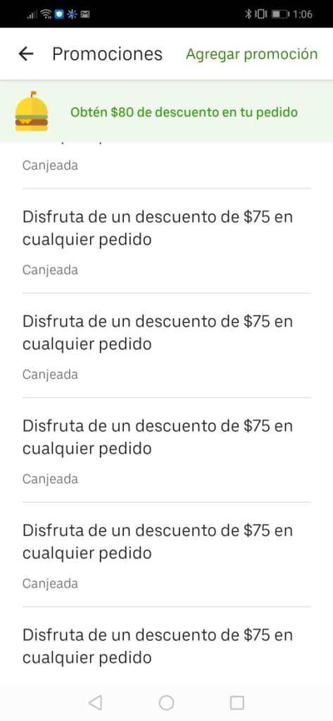cupones uber eats gratis
