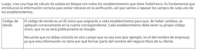 Cada dirección de Google My Business tiene un identificador unico que permite aplicar cambios a la ficha adecuada