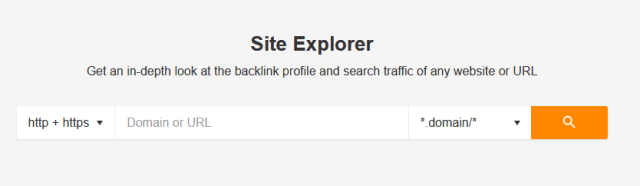 site explore de ahref