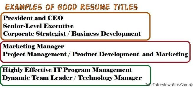 good title for resume