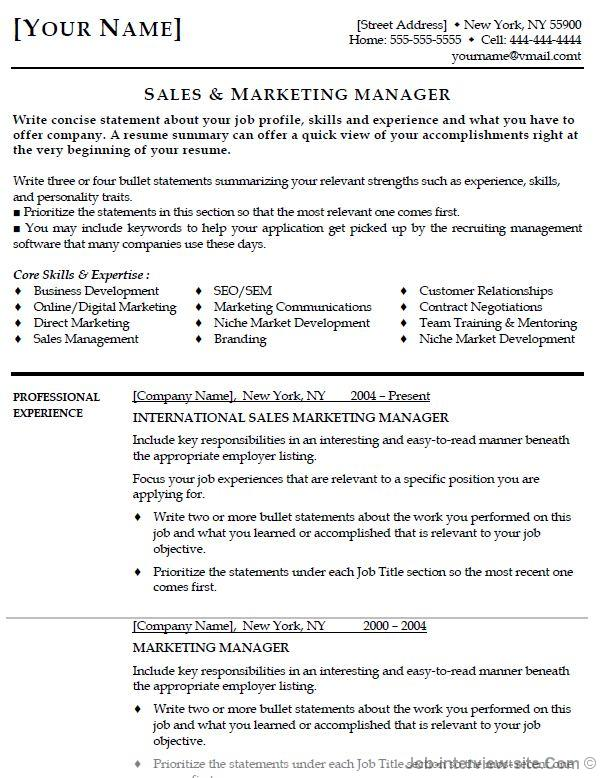 Marketing Manager Resume Thumb Free 40 Top Professional Resume Templates  Digital Marketing Manager Resume