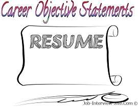 good resume objective statement examples amp resume objective