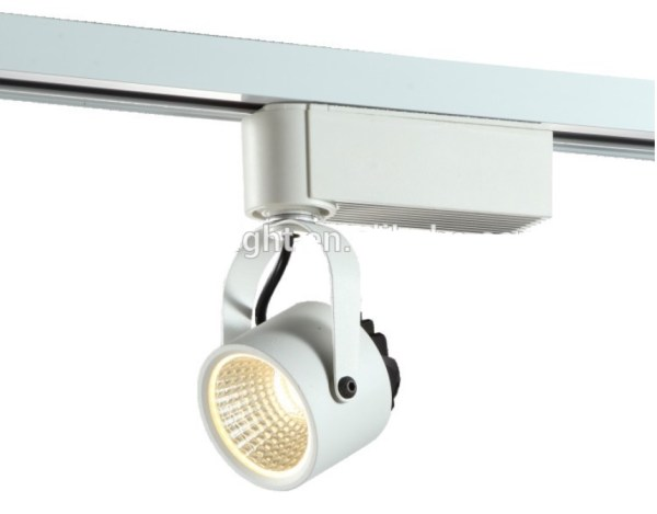 COB 2 lines LED luminium rotatable track light with CE ROHS