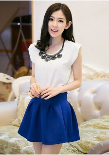 GSS905 top+skirt white
