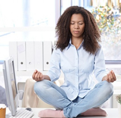 How can you do meditation while working? 3