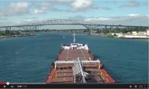 Ship going down the St Clair River