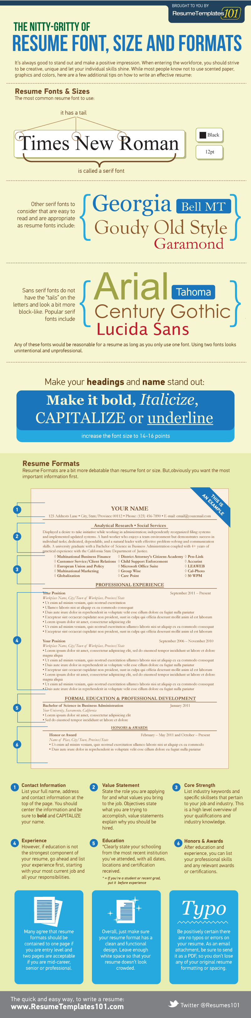 new best font and size for resume template resume resume font