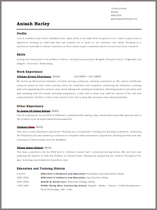 anisah harley free cv template template resume free newsound co