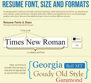 Resume Font Size and Formating