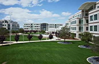Exteriores de las oficinas en el Campus de Apple de Cuperino