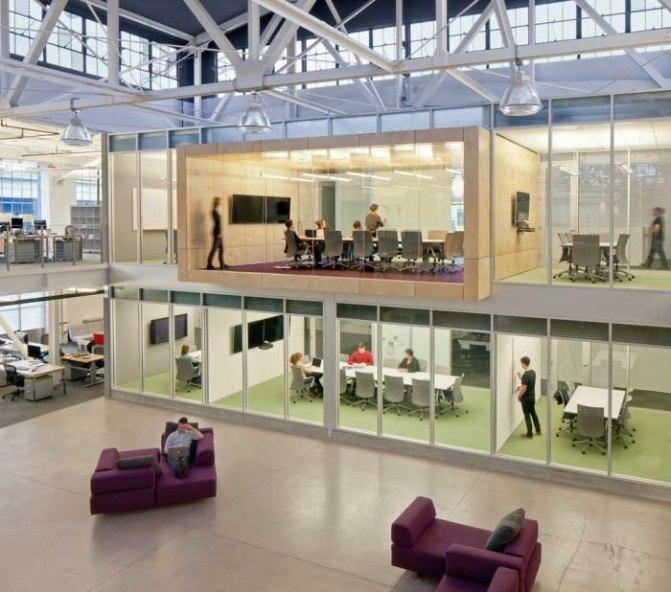 Oficinas de Atlassian salas de conferencia