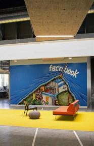 Decoración original oficinas de facebook