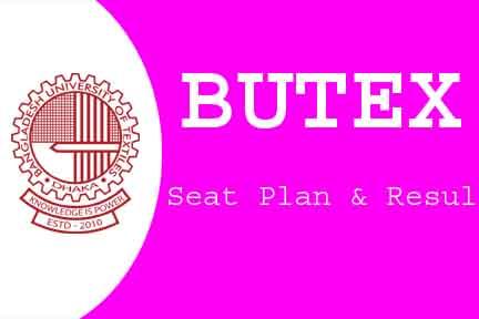 BUTEX SEAT PLAN & RESULT 2019 butex.gov.bd 1