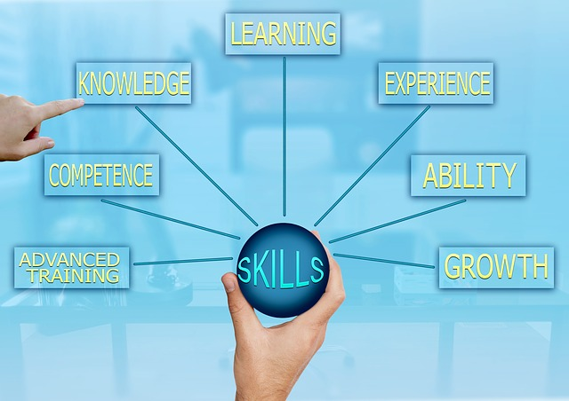 Skills benefits in career growth.