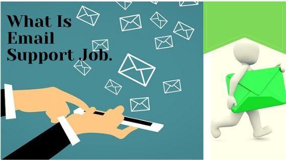 Men doing email support job and sending emails in bulk.