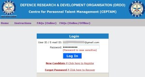 how to apply for drdo ceptam 5