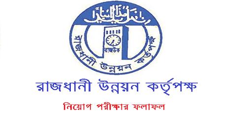 Rajdhani Unnayan Kartripakkha RAJUK Jobs Exam Result 2017
