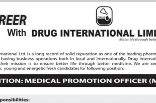 Drug International Limited job circular 2018