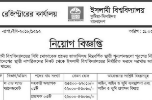 Islamic University IU Jobs circular In 2018 Job Circular 2018