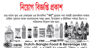 Dutch Bangla Food Beverage Ltd Job Circular 2018
