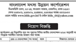 Bangladesh Fisheries Development Corporation BFDC Job Circular 2019 BFDC Gov BD
