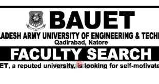 Bangladesh Army University of Engineering & Technology BAUET Job Circular 2019