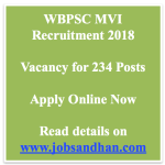 WBPSC MVI Recruitment 2018 Eligibility Motor Vehicle Inspector Vacancy