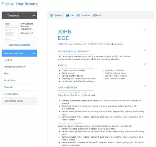 resume my perfect resume review my naukri resume writing services