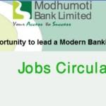 Modhumoti bank jobs Circular 2017 Bank Career modhumotibankltd.com