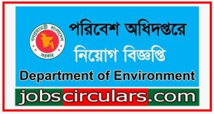 Environment job circular Department of Environment Job Circular 2019