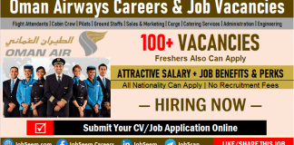 Oman Airways Careers and Employment, Apply for Cabin Crew, Flight Attendant Job Vacancies