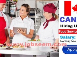 Food Service Supervisor Jobs Wanted in CANADA 2018 Apply Now