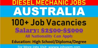 100+ Diesel Mechanic Jobs in Australia | Free VISA Free Ticket 2018