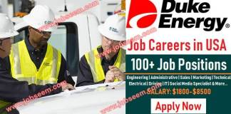 Duke Energy Jobs in USA Hiring in Multiple Career Positions