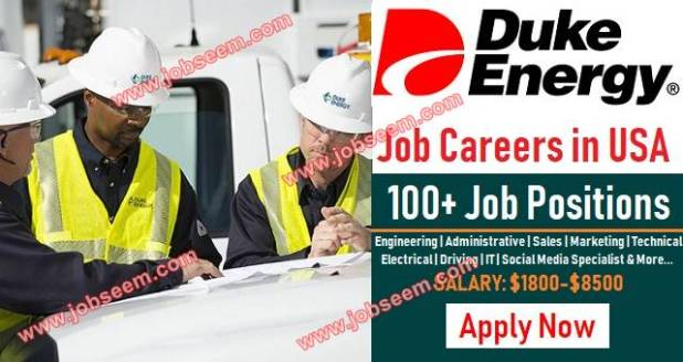 Duke Energy Jobs in USA Hiring in Multiple Career Positions