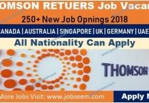 Thomson Reuters Careers 2018 Jobs Vacancy Recruitment in USA-Canada-Australia-UK-Germany-Singapore-UAE-India