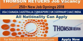 Thomson Reuters Careers 2018 Jobs Vacancy Recruitment in USA-Canada-Australia-UK-Germany-Singapore-UAE-India