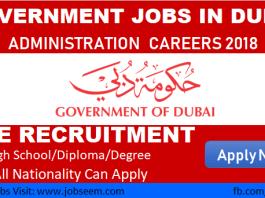 Government Jobs in Dubai UAE Administration Jobs in Dubai 2018