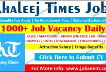 Buzzon Khaleej Times Jobs Today for Freshers 2020 New Job Career Vacancy Daily Newspaper
