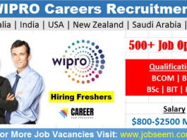 WIPRO Careers Recruitment 2020 for Freshers Latest Wipro Job Vacancy Openings