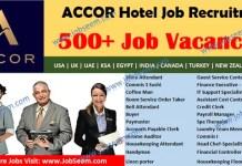 Accor Careers Opening, Urgent Recruitment in Accor Hotel Jobs 2020