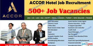 Accor Careers Opening, Urgent Recruitment in Accor Hotel Jobs 2020