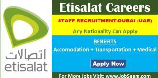 Etisalat Careers Vacancy Opening Dubai UAE Urgent Job Recruitment 2020