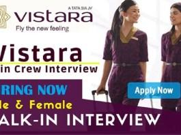 Vistara Careers Recruitment Hiring in Latest Job Vacancy in India 2020