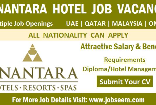 Anantara Hotel Careers Job Vacancy Openings and Direct Staff Recruitment