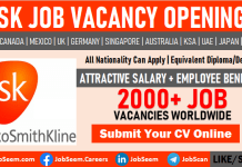 GSK Careers Glaxosmithkline Job Vacancy Openings for Freshers and Students