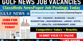 Gulf News Jobs Gulf Times Newspaper Classified Vacancy Openings Today for Freshers