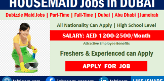 Housemaid Jobs in Dubai Part Time Maid Job Vacancy Openings Dubizzle